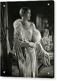 Lee Miller Wearing An Evening Gown Acrylic Print