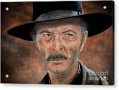 Lee Van Cleef As Angel Eyes In The Good The Bad And The Ugly Version II Acrylic Print