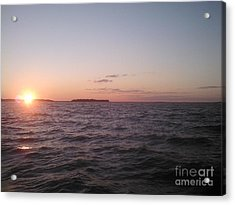 Leech Lake Sunset Acrylic Print