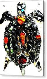 Leeky Turtle Acrylic Print by Lisa Brandel