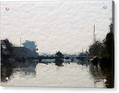 Leer Harbor  Acrylic Print by Steve K