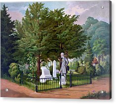 Lee's Final Visit To Stonewall Jackson  Acrylic Print