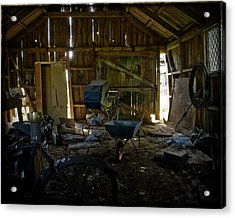 Acrylic Print featuring the photograph Left Behind by Liz  Alderdice