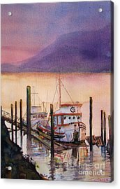 Acrylic Print featuring the painting Left To Rust by Sandy Linden