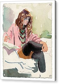 Leg Warmer Student Acrylic Print by Mark Lunde