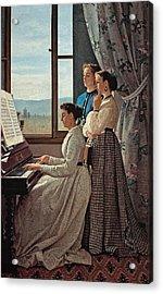 Lega Silvestro, The Folk Song, 1867 Acrylic Print by Everett