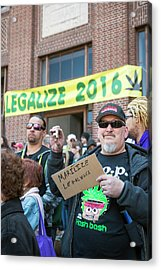 Legalisation Of Marijuana Rally Acrylic Print by Jim West