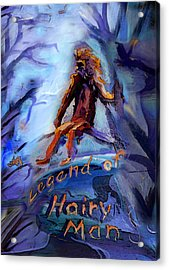 Legend Of Hairy Man Acrylic Print by Janet Oh