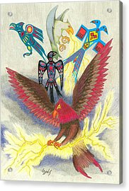 Legend Of The Thunderbird Acrylic Print