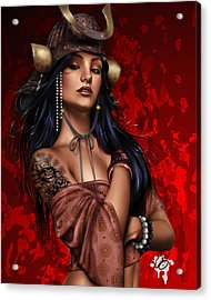 Legend Acrylic Print by Pete Tapang