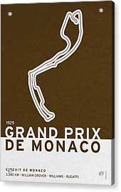 Legendary Races - 1929 Grand Prix De Monaco Acrylic Print by Chungkong Art