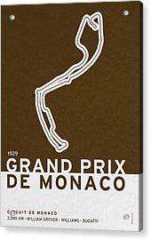 Legendary Races - 1929 Grand Prix De Monaco Acrylic Print