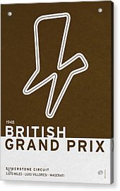 Legendary Races - 1948 British Grand Prix Acrylic Print by Chungkong Art