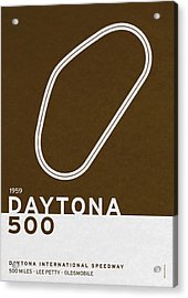 Legendary Races - 1959 Daytona 500 Acrylic Print by Chungkong Art