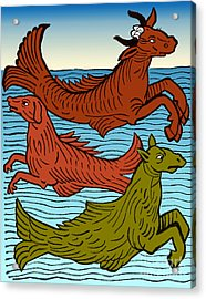 Legendary Sea Creatures, 15th Century Acrylic Print by Science Source