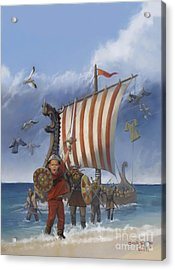 Acrylic Print featuring the painting Legendary Viking by Rob Corsetti