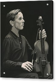 Acrylic Print featuring the painting Legendary Violinist by Ferrel Cordle