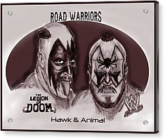 Legion Of Doom- The Road Warriors Acrylic Print by Chris  DelVecchio
