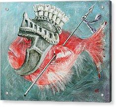 Acrylic Print featuring the painting Legionnaire Fish by Marina Gnetetsky