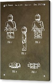 Lego Man Patent Acrylic Print by Dan Sproul