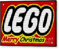 Lego Merry Christmas  Acrylic Print by Scott Allison