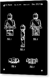 Lego Minifigurine Patent Acrylic Print by Dan Sproul