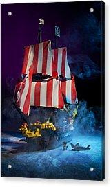 Lego Pirate Ship Acrylic Print by Samuel Whitton