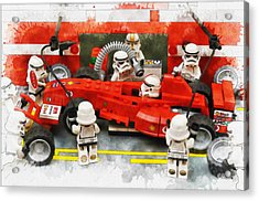 Lego Pit Stop Acrylic Print