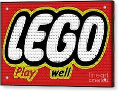 Lego Play Well Acrylic Print by Scott Allison