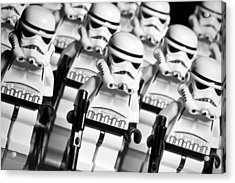 Lego Storm Trooper Army Acrylic Print by Samuel Whitton