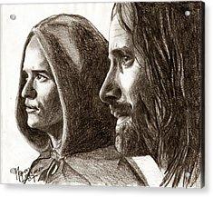 Legolas And Aragorn Acrylic Print