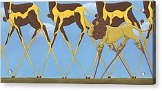 Whimsical Giraffe Painting  Acrylic Print by Christy Beckwith