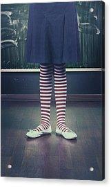 Legs Of A Schoolgirl Acrylic Print