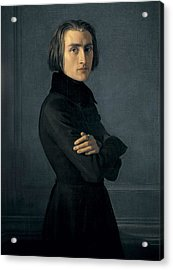 Lehmann, Heinri 1814-1882. Portrait Acrylic Print by Everett