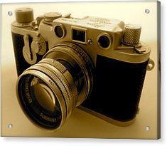 Leica Classic Film Camera Acrylic Print by John Colley