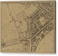 Leicester Square And Its Surroundings In 1658 Acrylic Print