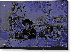 Leif Erickson Cameron Mitchell Mark Slade Attacking Apaches 3 High Chaparral Old Tucson 1969-2009 Acrylic Print