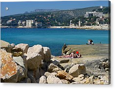 Leisure In Cassis Acrylic Print