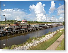 Acrylic Print featuring the photograph Leland Bowman Locks 1 by Gregory Daley  PPSA
