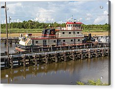 Acrylic Print featuring the photograph Leland Bowman Locks 3 by Gregory Daley  PPSA