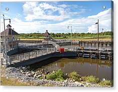 Acrylic Print featuring the photograph Leland Bowman Locks 4 by Gregory Daley  PPSA