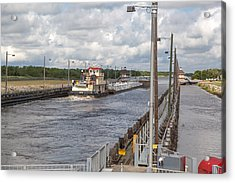 Acrylic Print featuring the photograph Leland Bowman Locks 6 by Gregory Daley  PPSA