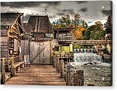 Leland Dock And Dam  Acrylic Print