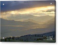 Lemhi Valley Light Acrylic Print by Idaho Scenic Images Linda Lantzy