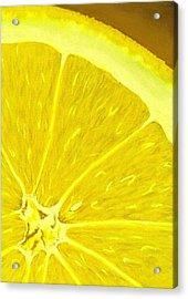 Lemon Acrylic Print by Anastasiya Malakhova