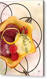 Lemon And Berry Sorbet  Acrylic Print