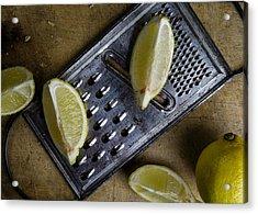 Lemon And Grater Acrylic Print