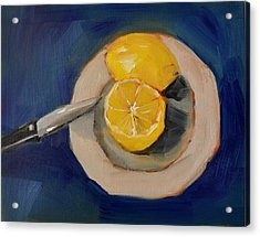Lemon And One Half Acrylic Print