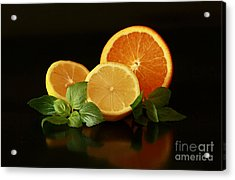 Lemon And Orange Delight Acrylic Print by Inspired Nature Photography Fine Art Photography