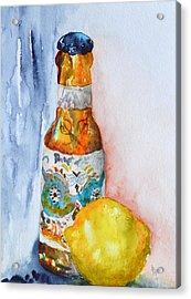 Lemon And Pilsner Acrylic Print by Beverley Harper Tinsley